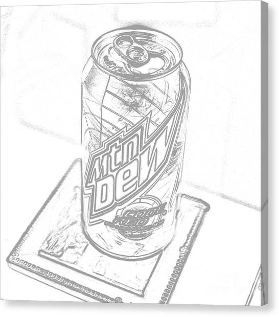 Mountain Dew Canvas Print - Mountain Dew Sketch Photograph by Jennifer Craft