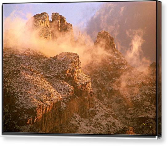 Mountain Dusting Canvas Print