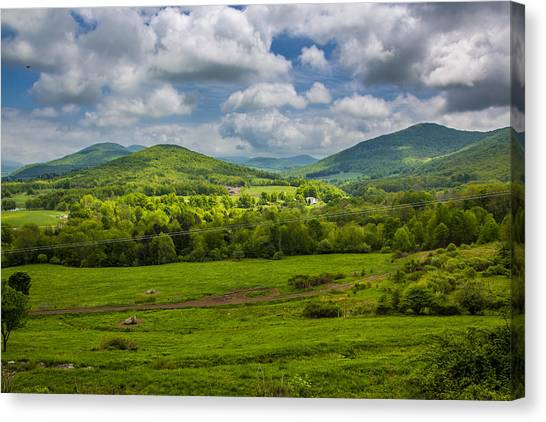 Mountain Field Of Greens Canvas Print