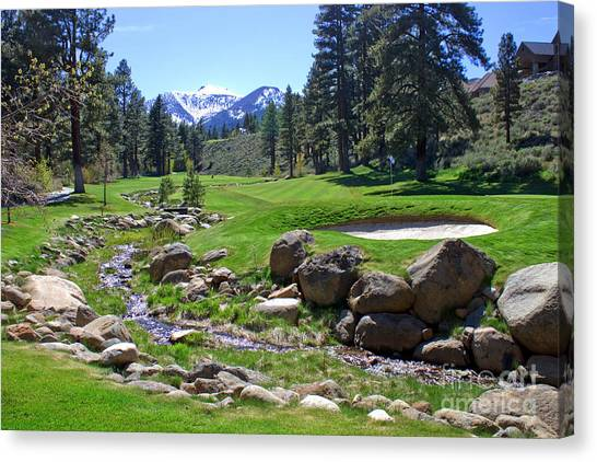 Mountain Golf Course Canvas Print