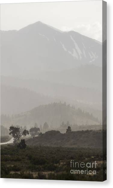 Hailstorms Canvas Print - Mountain Hailstorm by Carolyn Brown