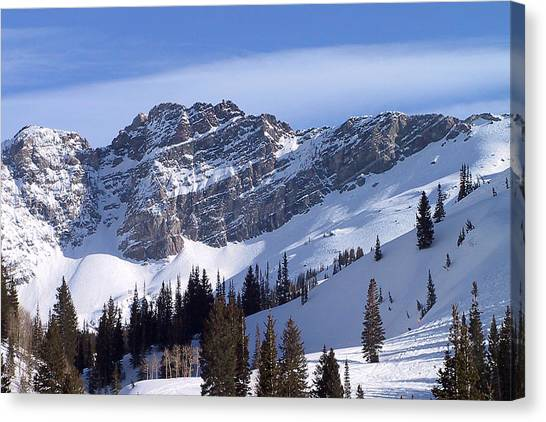 Mountains Canvas Print - Mountain High - Salt Lake Ut by Christine Till