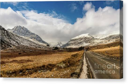 Tryfan Mountain Canvas Print - Mountain Highway Snowdonia by Adrian Evans