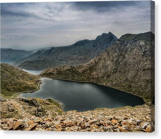 Canvas Print featuring the photograph Mountain Hike by Nick Bywater