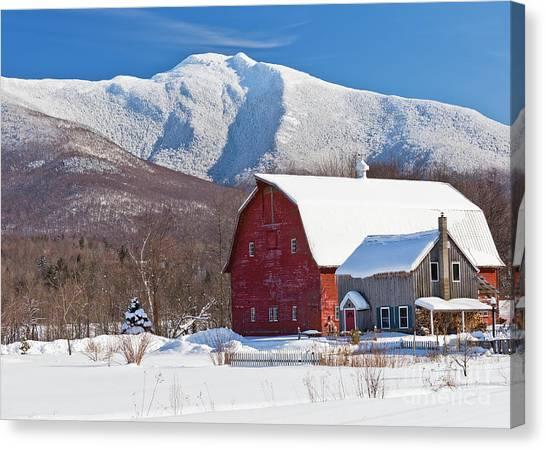 Mountain Homestead Canvas Print