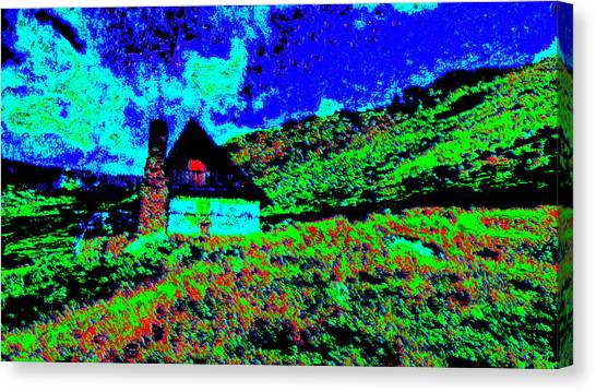 Mountain House Dd3 Canvas Print by Modified Image