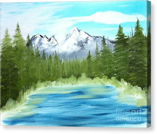 Mountain Imagining Canvas Print