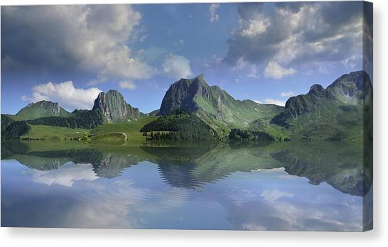 Mountain Lake Canvas Print by Bruno Santoro