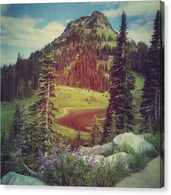 Washington Canvas Print - Mountain Lake #iphone6 #washington by Joan McCool