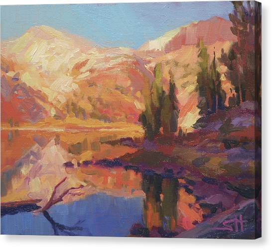 Mountain West Canvas Print - Mountain Lake by Steve Henderson