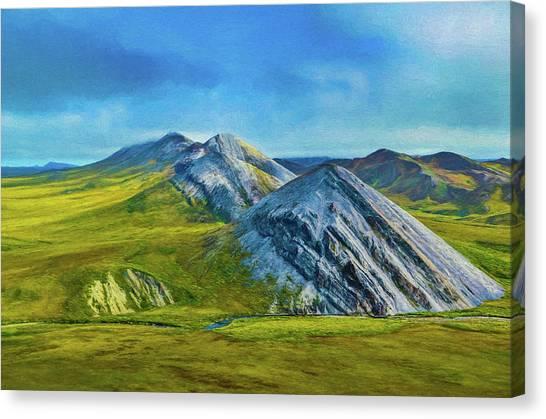 Mountain Landscape Digital Art Canvas Print