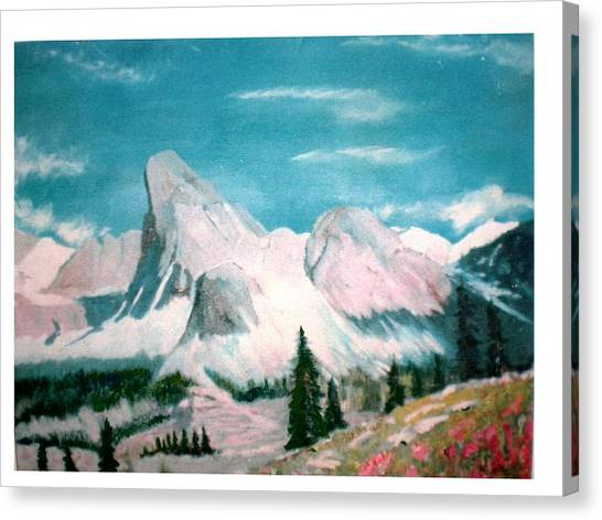 Mountain Meadows Canvas Print by Hal Newhouser