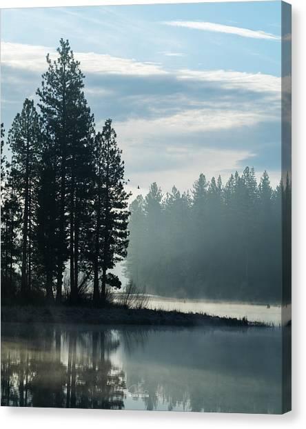 Mountain Meadows Reservoir At Dawn Canvas Print