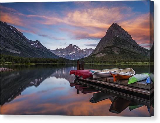 Glacier National Park Canvas Print - Mountain Morning by Andrew Soundarajan