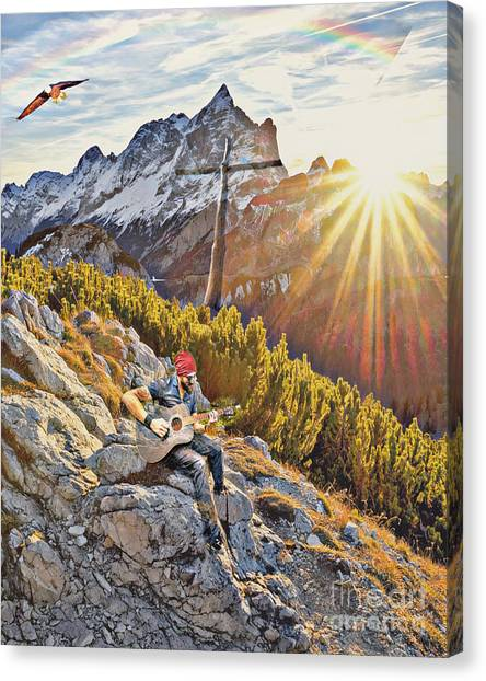 Mountain Of The Lord Canvas Print
