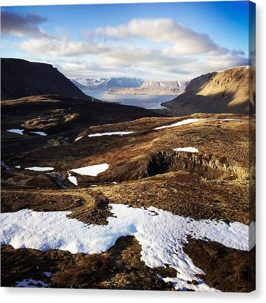 Landscape Canvas Print - Mountain Pass In Iceland by Matthias Hauser