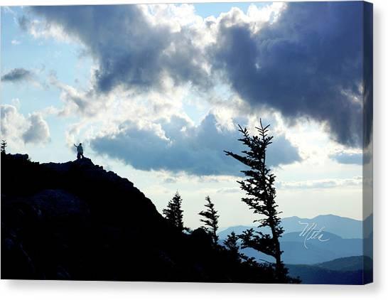 Mountain Peak Silhouette Canvas Print
