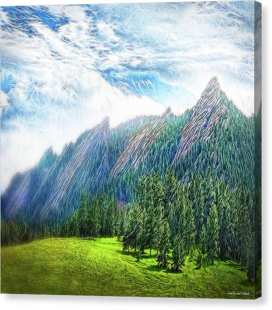 Mountain Pine Meadow Canvas Print