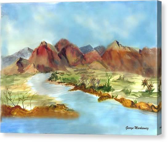 Mountain Range Canvas Print by George Markiewicz