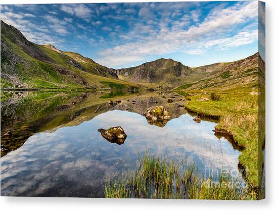 Pen Yr Ole Wen Canvas Print - Mountain Reflection by Adrian Evans