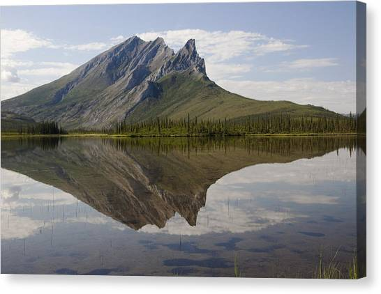 Mountain Reflection Canvas Print by Tim Grams