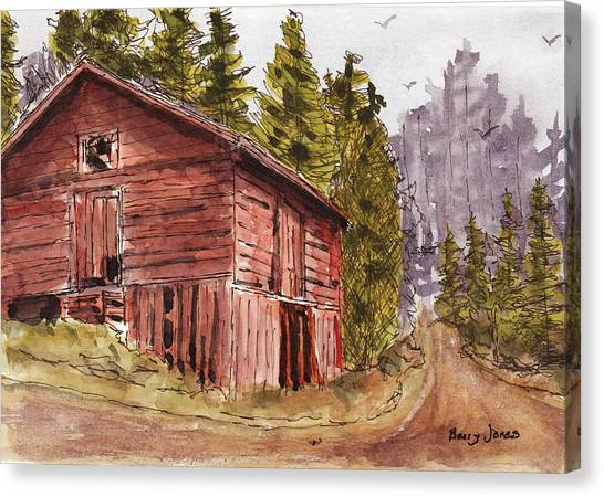 Canvas Print featuring the painting Mountain Retreat by Barry Jones