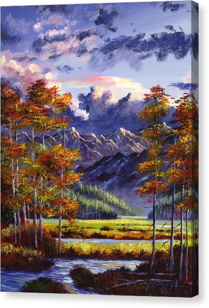 Recommended Canvas Print - Mountain River Valley by David Lloyd Glover