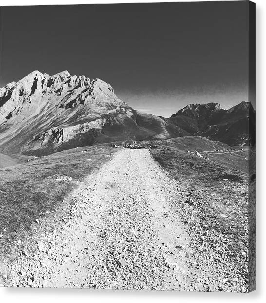 Contemporary Art Canvas Print - Mountain Road by Contemporary Art