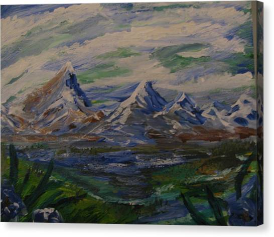 Mountain Scene Canvas Print by Dennis Poyant