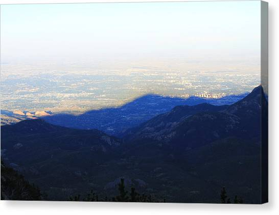 Mountain Shadow Canvas Print