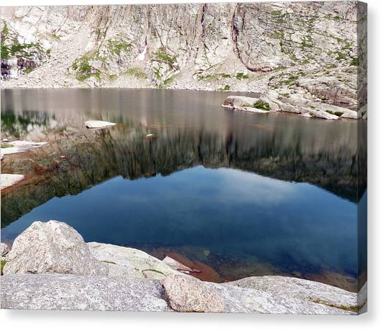 Mountain Side Reflection Canvas Print