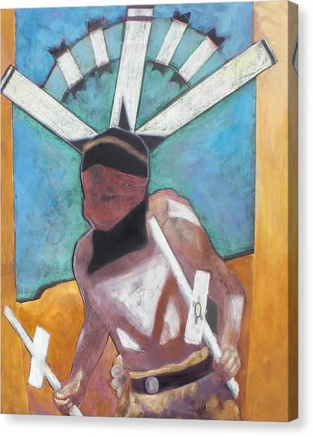 Mountain Spirit Dancer Canvas Print by Jo Thompson