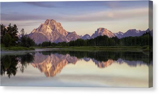 Mountain Stillness Canvas Print by Andrew Soundarajan