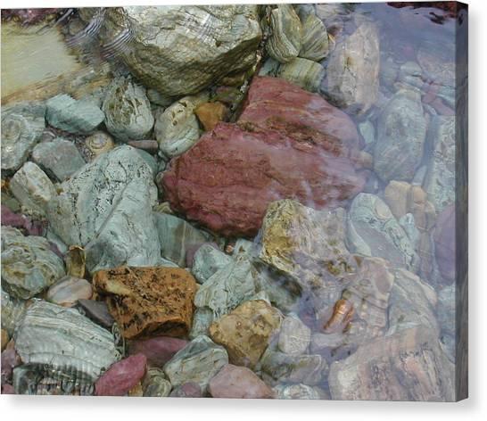 Mountain Stones Canvas Print by Lisa Patti Konkol