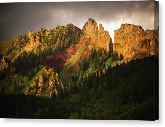Mountain Storm Light Canvas Print