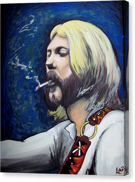 The Allman Brothers Canvas Print - Mountain Strap by Lia Littlewood