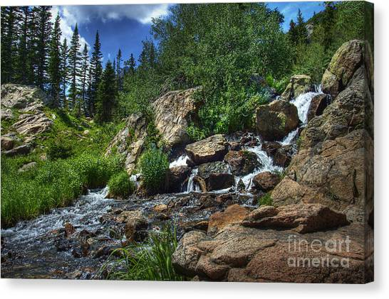 Mountain Stream 3 Canvas Print by Pete Hellmann