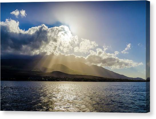 Mountain Sunbeams Canvas Print