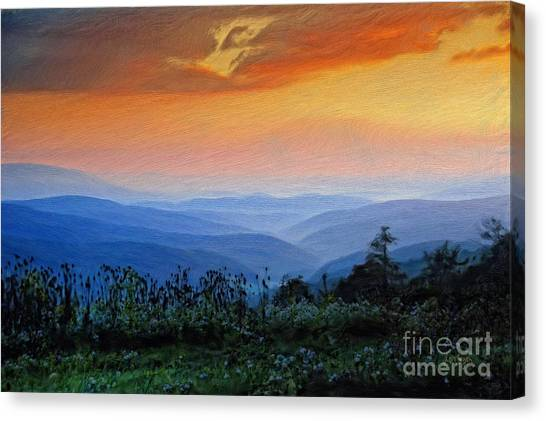 Mountain View Canvas Print - Mountain Sunrise by Lois Bryan