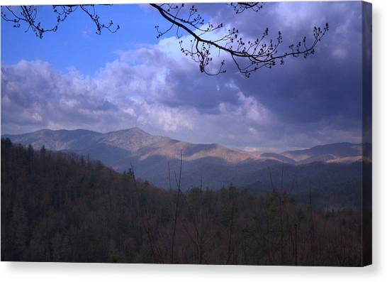 Mountain Sunrise Canvas Print by Wayne Skeen