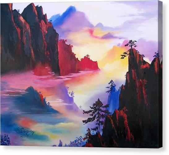 Mountain Top Sunrise Canvas Print