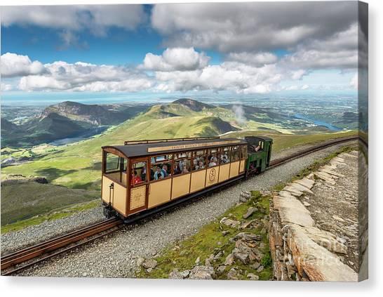 Pinion Canvas Print - Mountain Train by Adrian Evans
