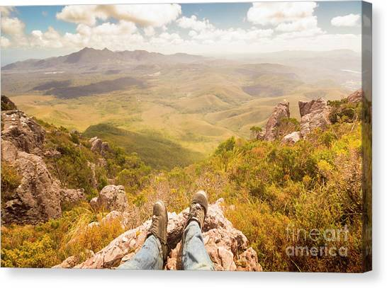 Ledge Canvas Print - Mountain Valley Landscape by Jorgo Photography - Wall Art Gallery