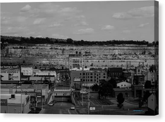 Ohio Valley Canvas Print - Mountain Valley Town by Roberta Byram