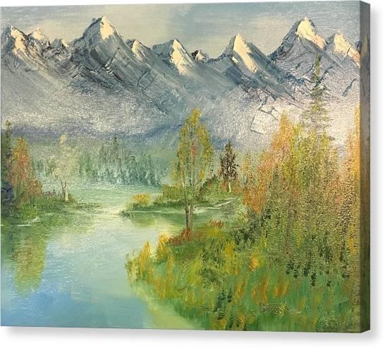 Mountain View Glen Canvas Print