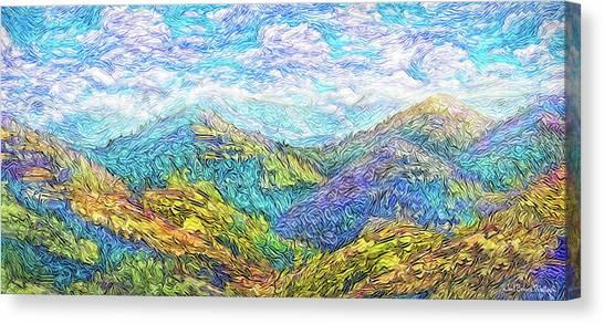 Mountain Waves - Boulder Colorado Vista Canvas Print