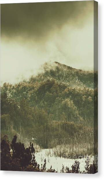 Foggy Forests Canvas Print - Mountain Wilderness by Jorgo Photography - Wall Art Gallery
