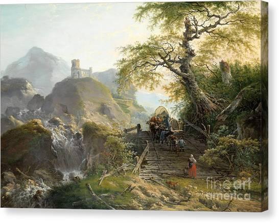 Rijksmuseum Canvas Print - Mountainous Landscape Near Dusseldorf by Celestial Images