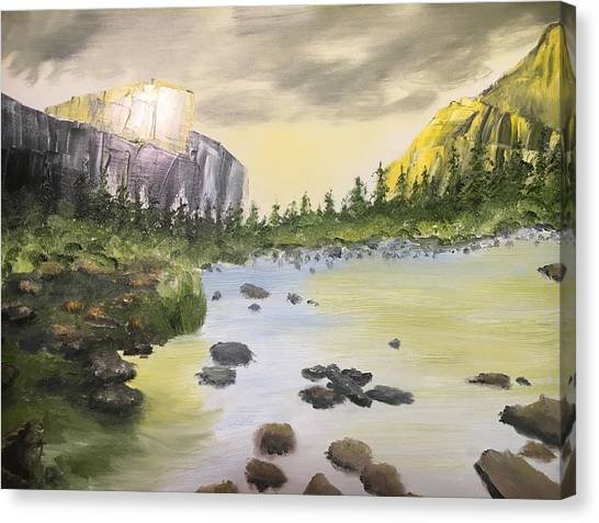 Mountains And Stream Canvas Print