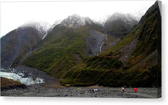 Fox Glacier Canvas Print - Mountains At Fox Glacier by Laurel Talabere
